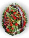 Элитный траурный венок из живых цветов №2 80см-170см