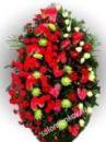 Элитный траурный венок из живых цветов №4 80см-170см