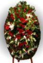 Элитный траурный венок из живых цветов №10 80см-170см