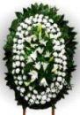 Элитный траурный венок из живых цветов №29 80см-170см