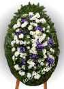 Элитный траурный венок из живых цветов №32 80см-170см