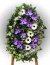 Элитный траурный венок из живых цветов №34 80см-120см