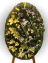 Элитный траурный венок из живых цветов №35 80см-140см