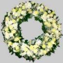Траурный элитный венок из живых цветов №53, РАЗМЕР 60см