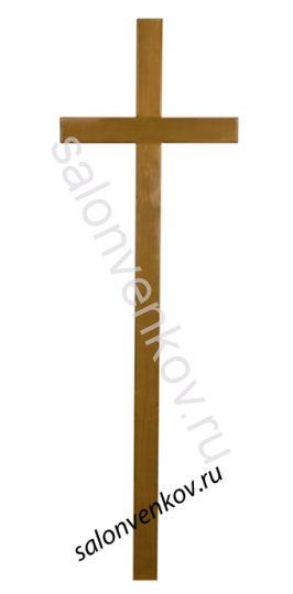 """Крест на могилу деревянный из дуба """"Католический""""  210см"""